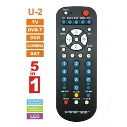 Pilot uniwersalny 5w1 TV  / DVB-T/DVD/AUDIO/SAT  U-2