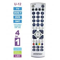 Pilot uniwersalny 4w1 TV /DVB-T/DVD//SAT U-12