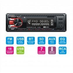 M-460 BT radioodtwarzacz samochodowy Bluetooth/USB/SD/FM 7 kolorów podswietlenia