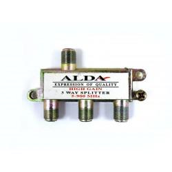 F 03 rozdzielacz/spliter antenowy SAT - 1 F IN - 3 F OUT / 1 wtyk F  3 gniazda F