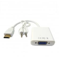 V 716 konwerter wtyk  HDMI - VGA gniazdo, z wyjsciem audio Jack